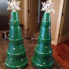 Terra Cotta Pot Christmas Trees