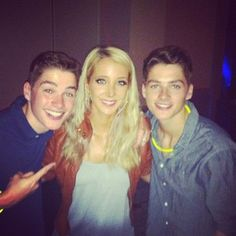 "@finnharries via Webstagram ""Chilling with Jenna Marbles at the VIP Party!!"""
