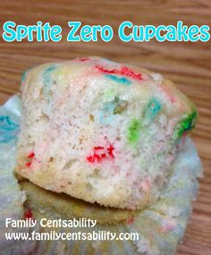 "Sprite Zero ""Skinny"" Cupcakes (or cake) in 3 easy steps!  Easier than classic cake!  Could use cool whip for low cal frosting or just eat plain. #delicious #easy #summer recipes"