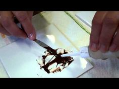 In this video Jackie Halhead, UK shows you how to create a paint mix for penwork to be kiln fired to help create artwork definition! porcelain paint, paint jacki, china paint, penwork, paintings, paint porcelain