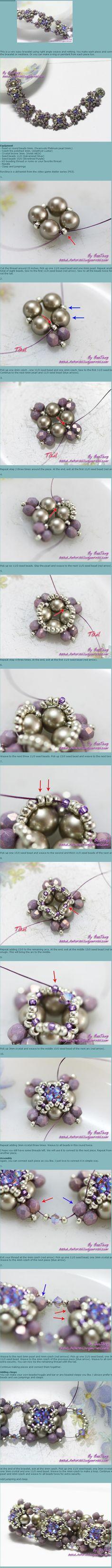 lovely beaded units for bracelets