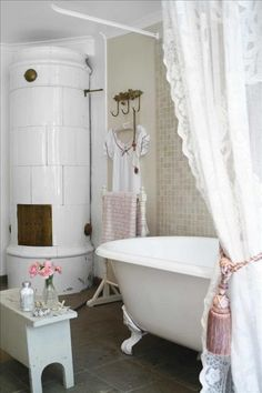 Romantic country bathroom