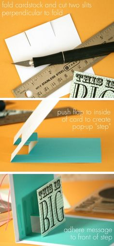 step by step pop up card #DIY