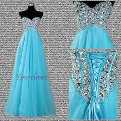 Elegant floor-length beading prom dress / evening dress · Your Closet · Online Store Powered by Storenvy