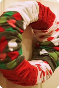 christmas wreaths, galleries, pea, bucket, sock wreath