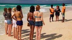 BINTM 2013: Britain and Ireland's Next Top Model finalists on the beach in #Barbados