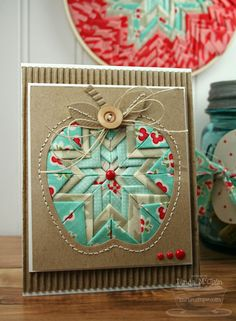 Folded Star Trio - card by StickUps - Cards and Paper Crafts at Splitcoaststampers