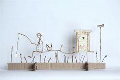 Figurines décoratives, Le pêcheur est une création orginale de Epistyle sur DaWanda