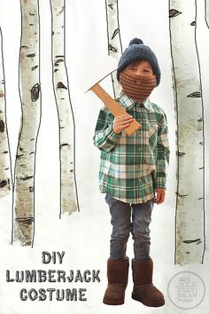 DIY Lumberjack Halloween Costume for Kids