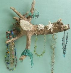 "Jewelry Holder Driftwood Sculpture is ""Instant Beach"""