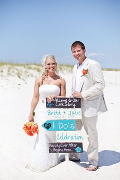 Beach Wedding Signs  Five Customized by OurHobbyToYourHome on Etsy
