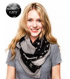 The City - How to wear a scarf. Several different ways to wear a scarf