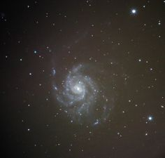 M101 - Deleted 1/2 the subframes and only kept the better ones.  A lot less exposure time here, but a sharper image.