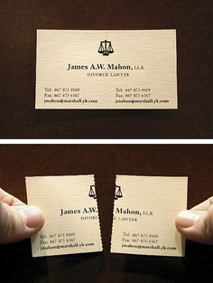 Creative business card for a lawyer