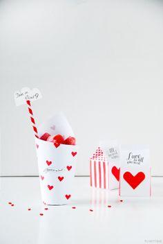 Valentine Treat Boxes | #DIY #Valentines Day Ideas