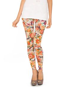 floral leggings for only $9.99. why not?!