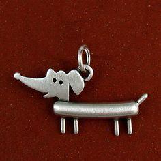 Dachshund pendant by StickManJewelry on Etsy, $24.00