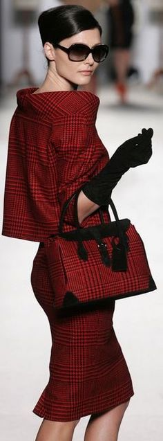 red glen plaid suit