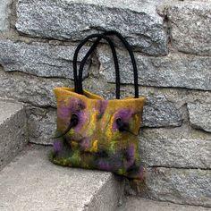 Felted handbag felt bag hand felted bag felted shoulder by albado, $120.00