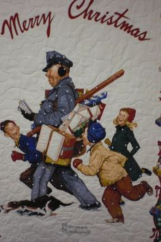 Norman Rockwell Mailman quilt at LR Designs Quilting