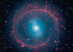 "Galaxy NGC 1291 --- It might look like a spoked wheel or even a ""Chakram"" weapon wielded by warriors like ""Xena,"" from the fictional TV show, but this ringed galaxy is actually a vast place of stellar life. A newly released image from NASA's Spitzer Space Telescope shows the galaxy NGC 1291. Though the galaxy is quite old, roughly 12 billion years, it is marked by an unusual ring where newborn stars are igniting."