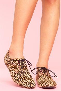leopard print oxfords ..