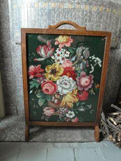 Vintage Sanderson fire screen
