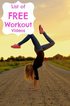 List of FREE workout videos categorized by either body part or workout type!