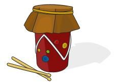 Love this drum craft from PBS kids! Get more ideas to keep little hands busy on our blog: http://resource.takelessons.com/music-activities-for-kids-making-instruments/  #activitiesforkids #funforkids #kidscrafts #crafts #kidsmusic #musicfun