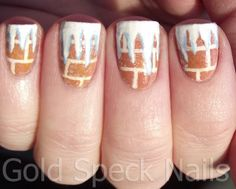 Gold Speck Nails: Icicle Nails