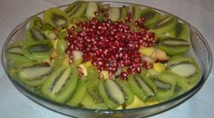 Fruit salads with pomegranate