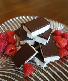 Chocolate Coconut Bars - Coconut Oil, Coconut Cream Concentrate, Vanilla Extract, Shredded Coconut, and Dark Chocolate