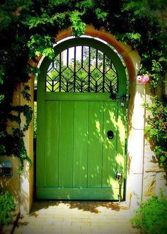 the doors, green doors, secret gardens, green garden, garden gates, garden doors, walled garden, the secret garden, green gate