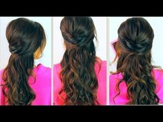 ★ CUTE BACK-TO-SCHOOL HAIRSTYLES | EVERYDAY PROM CURLY HALF-UP UPDOS FOR MEDIUM LONG HAIR TUTORIAL - YouTube
