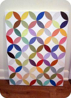 paint chip circle art