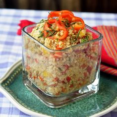 Lime Salsa Quinoa Salad - served hot or cold this is one healthy, delicious, simple, colorful, nutritious side dish.