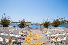 Sunset Terrace waterfront wedding venue in San Diego at Paradise Point Resort & Spa. #WeddingVenues