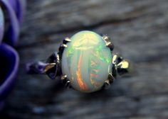 Opal Ring Solid Size