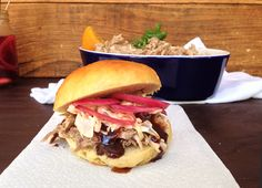 Pulled Pork Sandwiches With Pickled Onions Spicy Cabbage Slaw ...
