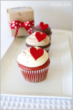 Valentine's cupcake - red velvet and cream cheese frosting?  I think so ;)