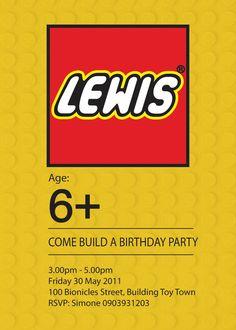 LEGO R Inspired  Personalized Custom Birthday by SIMONEmadeit, $12.95