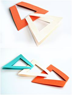 Una guirnalda de triangulos paso a paso, un resultado genial.