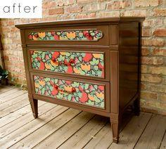 dresser makeovers, furniture arrangement, diy furniture, diy crafts, antique furniture, old dressers, pet, dresser redo, scrapbook paper
