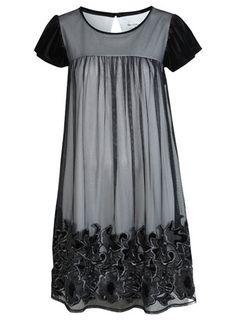 Miss Selfridge Velvet Smock Dress
