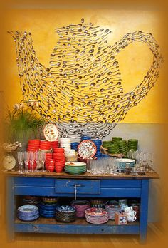 Anthropologie displays - would use forks instead for Forkner family design