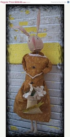 On Sale Primitive Spring Rabbit Snickerdy by Rabbithollowprims, $26.06