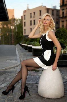 leg, fashion, sexi, style, dress, white, beauti, black, pantyhos