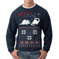 Dinosaur Sweatshirt Unisex Navy, $28, now featured on Fab.
