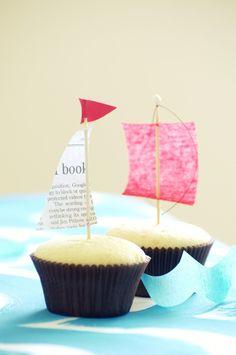 Sailboat cupcakes.