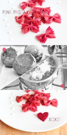 <3 All-natural pink pasta for Valentine's dinner. #Valentines